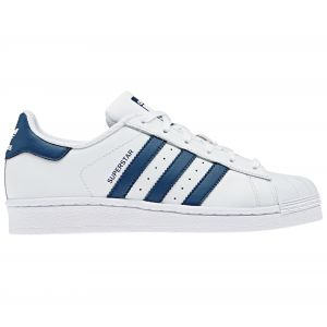 Adidas Superstar J, Chaussures de Gymnastique mixte enfant - Blanc (Ftwr White/Legend Marine), 38 EU