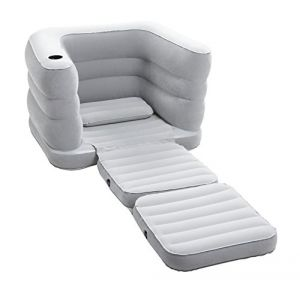 Bestway Fauteuil gonflable floqué Multi Max II + Coussin