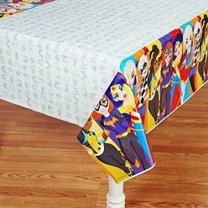 Amscan American Greetings Dc Super Hero Girls Plastic Table Cover, 54&quot X 96&quot
