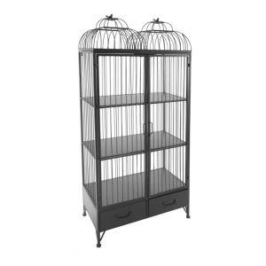 Armoire cage Garden L 78 x l 38 x H 168 cm Gris Métal Livraison gratuite AC DÉCO