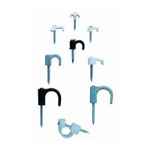 Index 100 crampon nylon (polyamide 6,6) clou en acier zingué. Blanc. Rond D. 5 mm - GRBL050