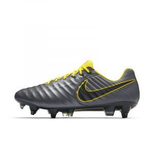 Nike Chaussure de footballà crampons pour terrain gras Tiempo Legend VII Elite SG-Pro Anti-Clog - Gris - Taille 39 - Unisex