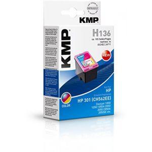 KMP H136 - Cartouches d'encre 3 couleurs compatible HP n°301
