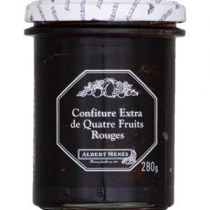Albert ménès Confiture extra de quatre fruits rouges - Le pot de 280g
