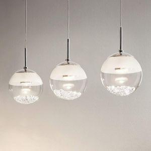 Eglo Suspension LED allongée Montefio avec cristal