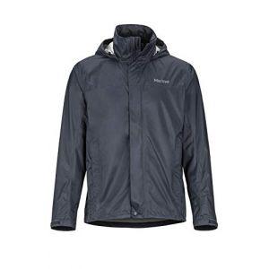 Marmot PreCip Eco Jacket Imperméable, Veste de Pluie Homme, Hardshell, Coupe Vent, Respirant, Dark Steel, M