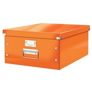 Leitz 6045-00-44 - Boîte de rangement Click & Store, format A3, en PP, coloris orange métallique