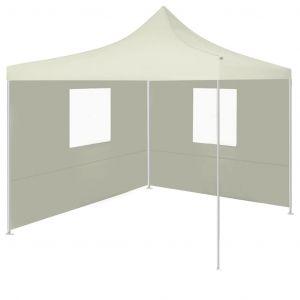 Tente pliable avec 2 parois 3 x 3 m Crème VIDAXL