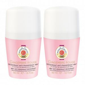 Roger & Gallet Gingembre Rouge - 2 déodorants Roll-on