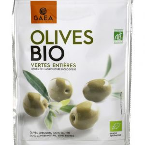 Gaea Olives bio vertes entières