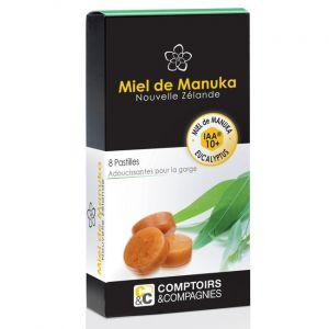 Comptoirs et Compagnies Pastilles Miel de Manuka Eucalyptus- Boîte de 8 pastilles