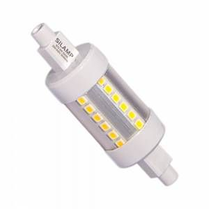 Silamp Ampoule LED R7S 78mm 5W 220V SMD2835 36LED 360 - couleur eclairage : Blanc Chaud 2300K - 3500K