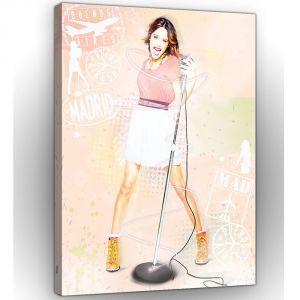 Tableau Violetta Sing Disney (60 x 40 cm)