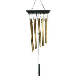 Sud trading Carillon déco rectangulaire en métal - H. 81 cm - Noir