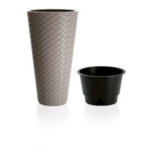 """Pot à Fleurs """"Tressé Slim"""" 30cm Taupe Prix"""