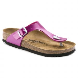 Birkenstock Gizeh, Tongs Femmes, Rouge Electric Metallic Magenta, 41 EU