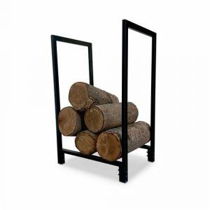 Alice's Garden Porte buches extérieur/intérieur acier noir 70cm accessoire pour brasero ou barbecue montage facile