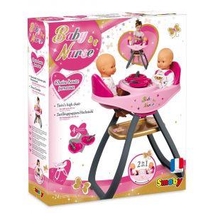 Smoby Chaise haute Baby Nurse Jumeaux