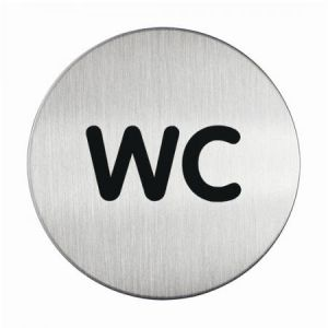 Durable Pictogramme rond symbole WC diamètre 83 mm