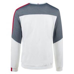 Le Coq Sportif Sweat-shirt SAISON 1 CREW SWEAT N°1 M BLEU TRICOTAGE - Couleur S,M,L,XL - Taille Blanc