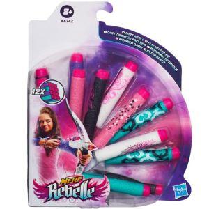 Hasbro 12 fléchettes de recharge pour Nerf Rebelle