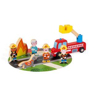 Janod Set de figurines Story : Pompiers