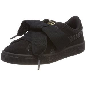 Puma Suede Heart SNK PS, Sneakers Basses Fille, Noir Black Black, 30 EU
