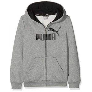 Puma Blouson à capuche Essentials pour garçon, Gris/Bruyère, Taille 110