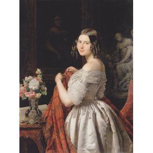 Grafika Ferdinand Georg Waldmüller : Junge Dame bei der Toilette, 1840 - Puzzle 2000 pièces