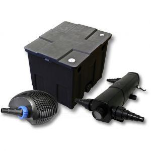 Image de wiltec Kit de filtration de bassin 12000l avec 24W Stérilisateur et CTF Pompe avec 20W