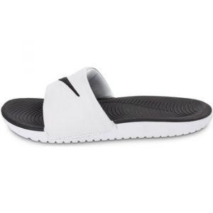 Nike Kawa Slide (GS/PS), Tongs Garçon, Blanc (White/Black 100), 37.5 EU