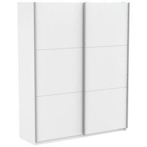 Armoire Blanc avec 2 Portes Coulissantes 180cm SC RER