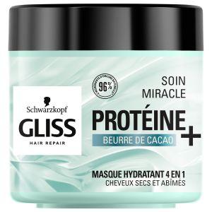 Schwarzkopf GLISS - Masque Capillaire Miracle Hydratation - Le Pot de 400 ml