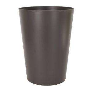 Artevasi Cache pot ou pot de fleur haut rond couleur tendance gris anthracite, Ø 30 cm hauteur 40 cm