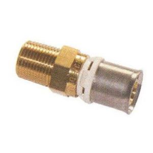 Pb Tub Raccord mâle fixe pour tube multicouches - Diamètre : 16 - 3/8
