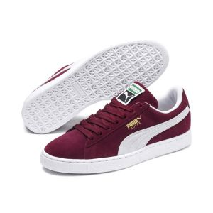 Puma Suede Classic+ - Baskets mode - Mixte Adulte - Rouge (Burgundy/White 75) - 42 EU
