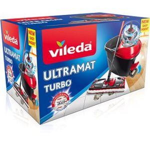 Vileda Ultramat Turbo Seau à Pédale + Essoreur