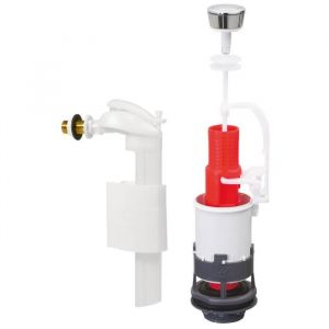 Wirquin Mécanisme à simple poussoir + robinet flotteur