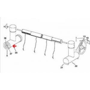 Procopi 1863100 - Pied de rechange côté roue pour enrouleur de bâche de piscine Roller