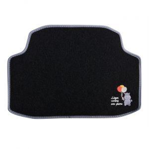 Custo Auto 1 tapis arrière de voiture universel moquette POL Hippo brodé noir