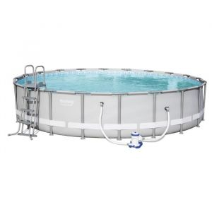 Bestway Kit Piscine Ronde Steel Pro Frame Pools D 610cm h 122cm