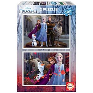 Educa Puzzle 2 x 100 pièces : La Reine des Neiges 2 (Frozen 2)