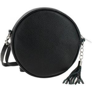 DUPOND DURAND Sac Bandouliere Sac Rond en Cuir Allya, noir multicolor - Taille Unique