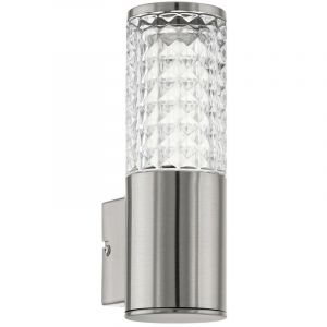Eglo Applique DEL 3,7 watts luminaire mural lampe LED inox verre clair veranda facade