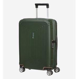 Samsonite Valise cabine 4 roues Neopulse Slim 55 cm Matte Dark Olive vert