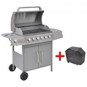 VidaXL 41903 - Barbecue grill à gaz 6+1 foyers