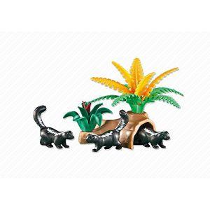 Playmobil 6358 - Famille de putois avec souche d'arbre