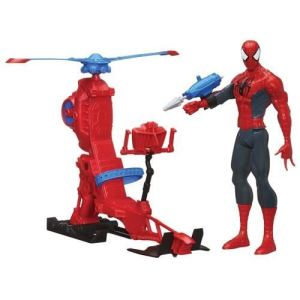 Hasbro Figurine Spiderman avec hélicoptère