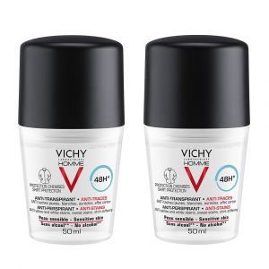 Vichy Déodorant bille traitement Anti-Traces 48h (Lot de 2)
