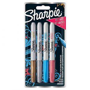 Sharpie Marqueur - fine - mettalic -or, argent,bleu, rouge - lot de 4
